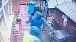 Hero neighbour chases off three armed burglars