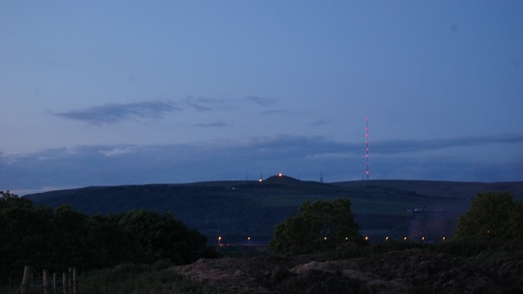 View of the Beacon at Rivington Pike taken from Adlington 