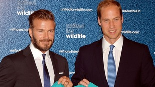 The Duke of Cambridge and David Beckham at the launch of the #WhoseSideAreYouOn campaign.