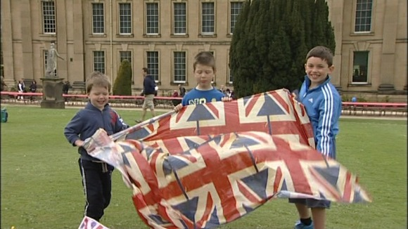 Flying the flag at Chatsworth House