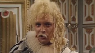Rik Mayall, who has died aged 56, in a scene from Blackadder.