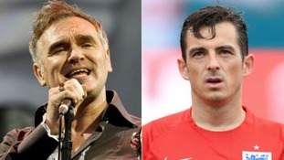 Everton left-back Leighton Baines was one of only two England players to recognise Morrissey.