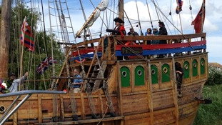 Medieval ship sails into Kent after Jubilee Celebrations