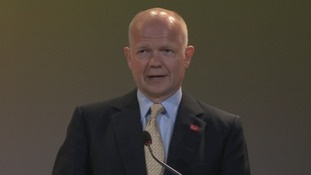 Foreign Secretary William Hague at the Time To Act summit in London.