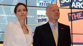Hague and Jolie attend sexual violence in war summit