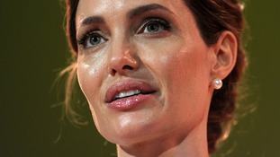 UN special envoy Angelina Jolie makes her opening speech at the four-day Global Summit to End Sexual Violence in Conflict