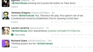 The hashtag #BritishValues has provided some interesting ideas for what Michael Gove might have meant.