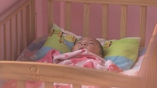 ITV News filmed this baby be deposited in a 'hatch'.