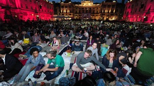 The crowd watching About Time at Somerset House last year