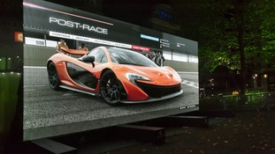 The 370-inch TV screen which is reportedly biggest in the world.