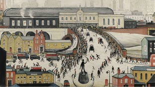 L.S Lowry's Station Approach, Manchester, which has sold at Sotheby's.
