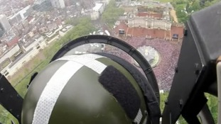 A pilot's view of the Diamond Jubilee flypast