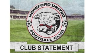 Hereford United owner gives statement on Conference drop