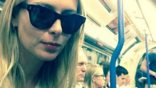 Tennis star Maria Sharapova takes selfie on London Underground