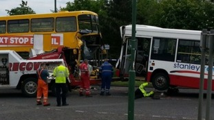 Bus crash school pledges help for air ambulance
