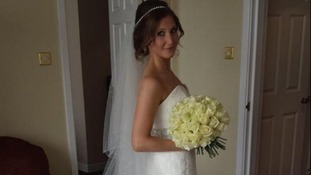 Tash on her wedding day