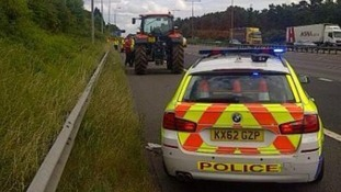 Officers stopped the vehicle on the southbound stretch of the motorway near Daventry.