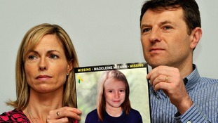 File photo of Madeleine's parents Kate and Gerry McCann.