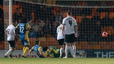 Salisbury scoring against Port Vale in a match last year