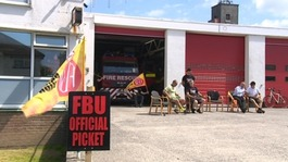 West Country firefighters join national 24hr strike