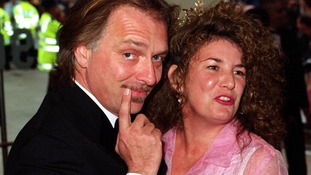 Barbara Robbin and her 'darling' husband Rik Mayall in May 2000.