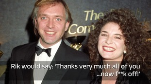 Rik Mayall and his wife Barbara pictured in December 1993.