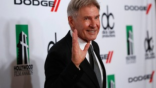 Harrison Ford, posing last year at Hollywood Film Awards Gala, has been injured on Star Wars set.