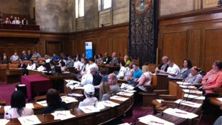 Takeover of Leeds City Council chamber