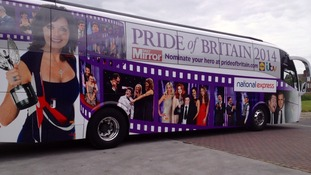 Emmerdale stars join Pride of Britain bus tour