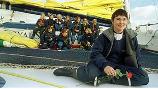 Tracy Edwards (foreground) and her all-female British crew on the Maiden.