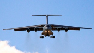 A Ukrainian military plane with at least 49 passengers has been shot down, according to reports.