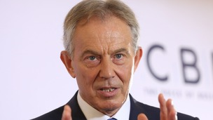 Tony Blair has sais that violence in Iraq is linked to the West's inaction over Syria, not 2003 War