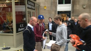 Shearer meets fans