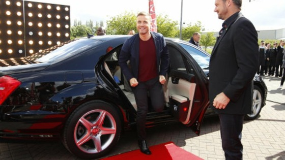 X Factor judge Gary Barlow arrives at Event City in Manchester for the second day of X Factor auditions in the city.