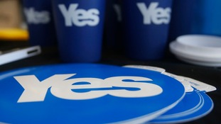 Yes campaign poll shows 43% of voters support campaign for Scottish independence.
