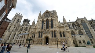 The Tour de France riders will pass by York Minster