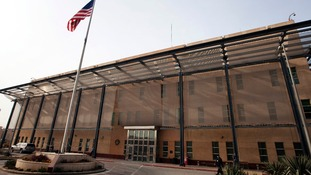 The Chancellery building inside the compound of the US embassy in Baghdad.