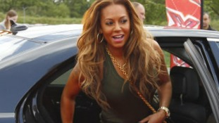 Guest judge Mel B arrives in Manchester for the X Factor auditions