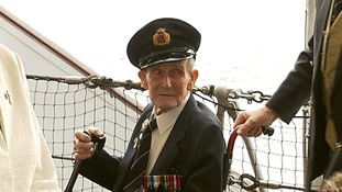 D-Day veterans gather on HMS Belfast