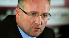 Paul Lambert speaking at a news conference earlier