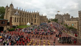 Today's procession at Windsor Castle.