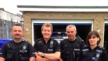 PC Chris Curtis, PC George Healey, PC Nathan Woodgate, PC Paula Gilluley.