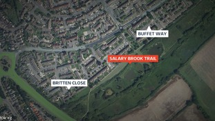Map showing location of Salary Brook Trail