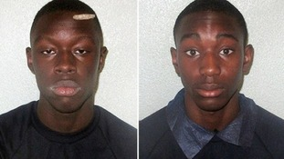 Osman Bangura (left) who was found guilty of murder of Yemurai Kanyangarara and Isaac Walters who was found guilty of manslaughter
