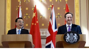 Chinese Premier Li Keqiang and Britain's Prime Minister David Cameron