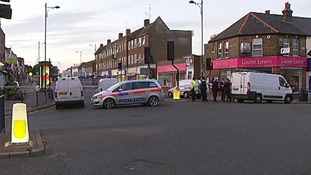 The scene of the stabbing in South-East London last July