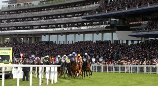 Crowds packed Ascot's grandstand.