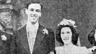 The Duchess of Cambridge's grandparents, Peter Middleton and Valerie Glassborow, on their wedding day in 1946.