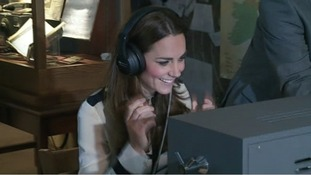 The Duchess of Cambridge tries her hand at being a spy at Bletchley Park.