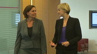 Laura Kuenssberg with a Managing Director of Fitch, Bridget Gandy
